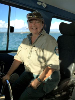 Image of Ranger Rene Burgess, Great Sandy Marine Park.