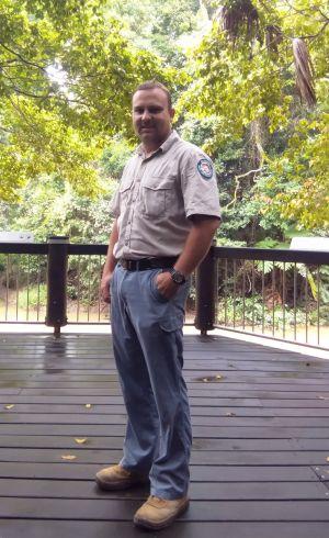 Image of Ranger Ben Hall, Eungella National Park.
